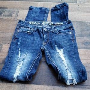 Ten25 Distressed Skinny Jeans Sz 3